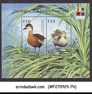 FIJI - 1999 INDIGENOUS DUCKS OF FIJI / BIRDS / IBRA - MIN/SHT MNH - Fiji (1970-...)