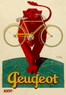 @@@ MAGNET - Peugeot Lion, Bicycle - Advertising