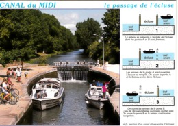 CANAL DU  MIDI - Le Passage D'une écluse - Bateaux