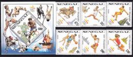 Olympics 1992 - Tennis - Basketball - SENEGAL - S/S+Set MNH - Summer 1992: Barcelona