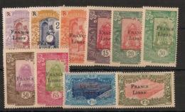 Côte Des Somalis - 1942 - N°Yv. 193 à 203 - France Libre - Série Complète - Neuf * / MH VF - Côte Française Des Somalis (1894-1967)