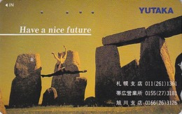 Télécarte Japon / 110-011 - Archéologie Préhistoire Menhir - Site STONEHENGE / England Rel Japan Phonecard - 43 - Landschaften
