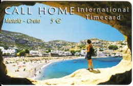 GREECE - Matala/Crete, Satline Prepaid Card 5 Euro, Exp.date 31/12/03, Used - Paysages