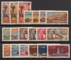 Côte Des Somalis - 1947 - N°Yv. 264 à 282 - Série Complète - Neuf Luxe ** / MNH / Postfrisch - Ungebraucht