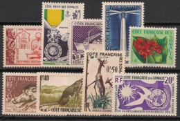 Côte Des Somalis - 1950-58 - N°Yv. 283 à 291 - Complet - 9 Valeurs - Neuf Luxe ** / MNH / Postfrisch - Französich-Somaliküste (1894-1967)