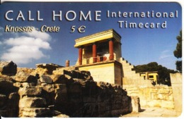 GREECE - The Palace Of Knossos/Crete, Satline Prepaid Card 5 Euro, Exp.date 31/12/03, Used - Paysages