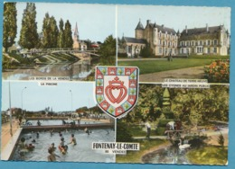 FONTENAY-LE-COMTE - Bords De Vendée Château De Terre-Neuve La Piscine Cygnes Au Jardin Public - Multivues Blason - Fontenay Le Comte