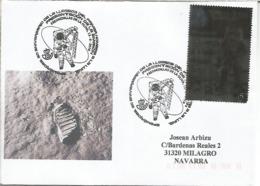 CC CON MAT PRESENTACION  DIA LLEGADA DEL HOMBRE A LA LUNA MAN ON THE MOON SPACE 50 YEARS - Cartas