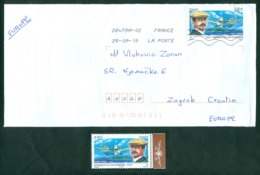 France 2010 Henri Fabre 100 Year Of The First Hydro Plane Aviation Pilot Letter And Stamp - Cartas