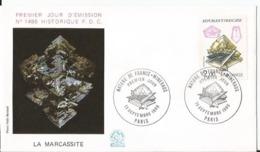 Enveloppe Premier Jour  - FDC - La Marcassite - Nature France Minéraux  - 1986 - Paris - 1980-1989