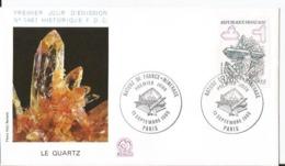 Enveloppe Premier Jour  - FDC - Le Quartz - Nature France Minéraux  - 1986 - Paris - 1980-1989