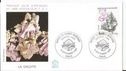 Enveloppe Premier Jour  - FDC - Le Calcite  - Nature France Minéraux  - 1986 - Paris - 1980-1989