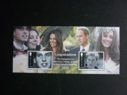 ISLE OF MAN, 2010 Prince William And Catherine Middleton Scott #1407 MNH Cv. 9,50$ - Isola Di Man