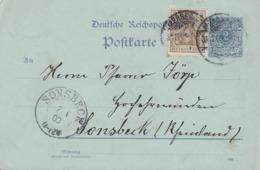 DR Ganzsache Zfr. Minr.69 Merseburg Ankunftsst. Sonsbeck K2  2.1.03 Nachv. Stempel - Covers & Documents