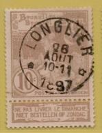 +MW-4535     *    LONGLIER *   OCB 72  Sterstempel     COBA +15     ZELDZAAM OP DEZE UITGIFTE - 1894-1896 Expositions