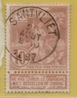 +MW-4539       SANTVLIET    OCB 72      COBA 15    ZELDZAAM OP DEZE UITGIFTE - 1894-1896 Expositions