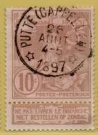 +MW-4542       *  PUTTE CAPPELLEN  *   OCB 72   Sterstempel     COBA 15    ZELDZAAM OP DEZE UITGIFTE - 1894-1896 Expositions