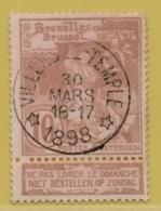 +MW-4544       *  VILLERS LE TEMPLE *   OCB 72   Sterstempel     COBA 15    ZELDZAAM OP DEZE UITGIFTE - 1894-1896 Expositions