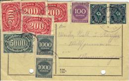 Deutsches Reich - Postkarte Echt Gelaufen / Postcard Used (A851) - Deutschland