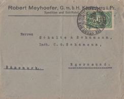 DR Brief EF Minr.221 SST Königsberg 13.6.23 Gel. Nach Dänemark - Deutschland