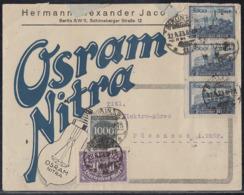 DR Werbebrief Osram Nitra Mif Minr.255, 3x 261,273 Berlin 27.8.23 - Deutschland