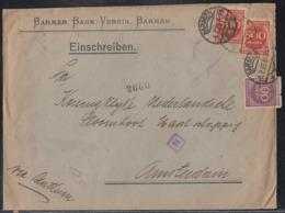 DR Brief Mif Minr.268,2x 272 Barmen 5.7.23 Perfins BBV Gel. Nach Holland Zensur - Deutschland