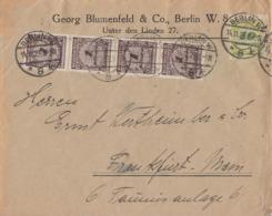 DR Brief Mif Minr.4x 325A,328A Berlin 14.11.23 Gel. Nach Frankfurt - Deutschland