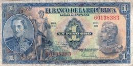 Colombia P.380g 1  Peso 1954 Vf - Colombia