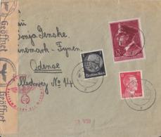 DR Brief Mif Minr.512,788,813 Kiel 4.5.42 Gel. Nach Dänemark Zensur - Briefe U. Dokumente