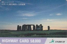 Carte Japon - Archéologie Préhistoire Menhir - Site STONEHENGE & SUNSET / England Rel Japan Card - HW 52 - Paysages