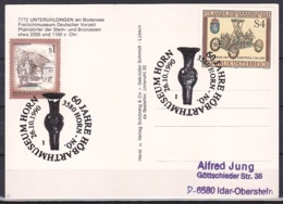 Austria - Unteruhldingen Am Bodensee Postcard - Cover/'60 JAHRE HÖBARTHMUSEUM HORN 26.1.1990' - 1981-90 Lettres