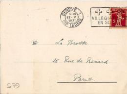 S79 Suisse Lettre De Banque Suisse Du 23-05-1931 Avec Flamme, Cachet Poste. Postée à Genève En Suisse - Postmark Collection
