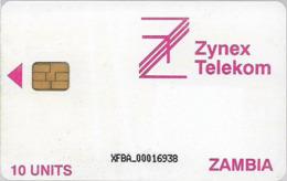 Zambia - Zambia Telecom - Logo, 10Units, Cn. XFBA At Bottom, 1998, Used - Zambia