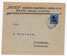1931 YUGOSLAVIA, SLOVENIA,TPO 71 BOH. BISTRICA - LJUBLJANA, TO HEIDELBERG, GERMANY, LETTERHEAD COVER - 1931-1941 Kingdom Of Yugoslavia