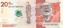 Colombia P.461    20000 Peso 2017 Unc - Colombia