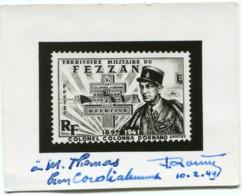 FEZZAN PROJET PHOTO SANS LA VALEUR FACIALE DU TIMBRE COLONEL JEAN COLONNA D'ORNANO - Fezzan (1943-1951)