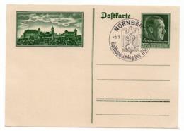 1938 GERMANY, SPECIAL CANCELATION, NURNBERG, HITLER, STATIONERY CARD, MINT - Germany