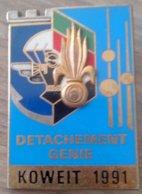 Pucelle 6° Régiment Etranger Du Génie, 17° Régiment De Génie Parachuriste - Détachement Génie - KOWEIT 1991 - Daguet - Hueste
