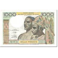 Billet, West African States, 1000 Francs, 1980, Undated (1980), KM:103An, TTB - West African States