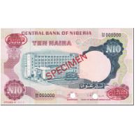 Billet, Nigéria, 10 Naira, 1973, Undated (1973), Specimen, KM:17s, NEUF - Nigeria