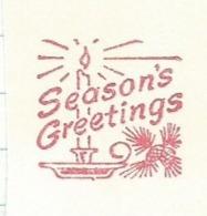 F006 EMA FREISTEMPEL METER Joyeux Noel Season Greetings Christmas CANADA Kitchener 1961 Candles Pine Cone Tree - Kerstmis