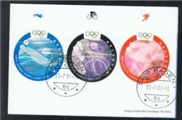 2000 15. Sept Olymp. Spiele Mi 1735 - 37 Sn 1084 - 86 Yt 1656 - 58 Sg 1467 - 69 Zum CH 1010 - 12 Auf Folie  S. Scan - Schweiz