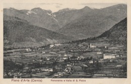 Friuli - Udine - Piano D'Arta (Carnia) - Panorama E Valle Di S. Pietro - - Udine