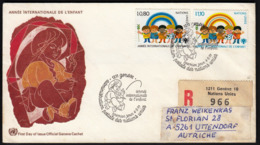 United Nations Geneva 1979 / Year Of The Child, Painter / R Letter - Childhood & Youth