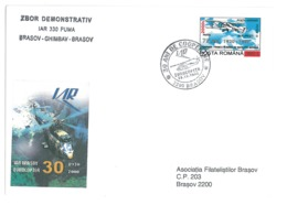 COV 65 - 345-a HELICOPTER, Flight, Romania - Cover - Used - 2000 - Hubschrauber