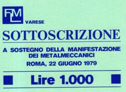 B 2766 - FLM, Federazione Lavoratori Metalmeccanici, Varese - Vecchi Documenti