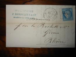 Lettre GC 681 Buxieres La Grue Allier Avec Correspondance - 1849-1876: Période Classique