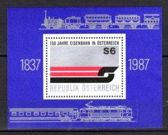 "Autriche 1987 Neuf** Bloc N°14 ""150 Iahre Eisenbahn"" TB  0,50 €   (cote 2,50 €, 1 Valeur) - Blocks & Kleinbögen"