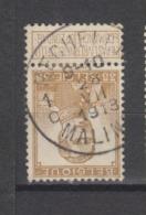 COB 113 Oblitération Centrale MECHELEN 1C - 1912 Pellens