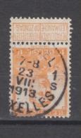 COB 116 Oblitération Centrale BRUXELLES 1S - 1912 Pellens